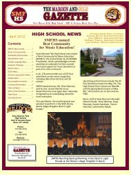HIGH SCHOOL NEWS - Stow Munroe Falls City School District