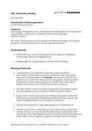 Internationale Vertriebsorganisation - SMG