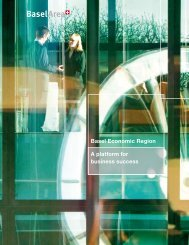 A platform for business success Basel Economic Region - BaselArea