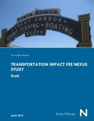 Transportation Impact Fee Nexus Study - City of Santa Monica