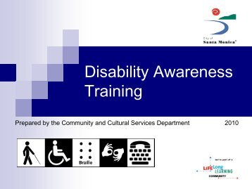 Disability Awareness - City of Santa Monica
