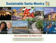 Sustainable City Report Card 2012 - City of Santa Monica