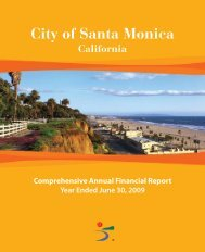 Comprehensive Annual Financial Report - City of Santa Monica
