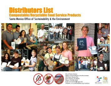 Container Distributors List - City of Santa Monica