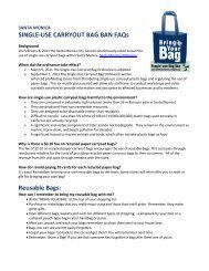 SINGLE- USE CARRYOUT BAG BAN FAQs - City of Santa Monica