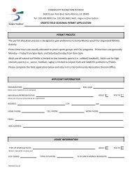 Field Rental Application & Rules - City of Santa Monica
