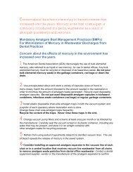 Mandatory Amalgam Best Management Practices (BMPs)