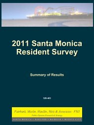 2011 Santa Monica Resident Survey - City of Santa Monica