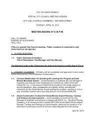 April 30 2013 Staff Report to Council - City of Santa Monica