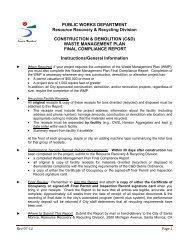 Compliance Report Instructions - City of Santa Monica