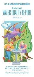 Water Quality rePOrt - City of Santa Monica
