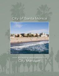 City Manager City of Santa Monica
