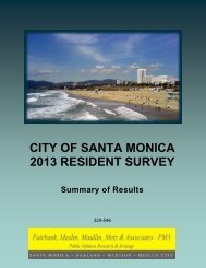 CITY OF SANTA MONICA 2013 RESIDENT SURVEY