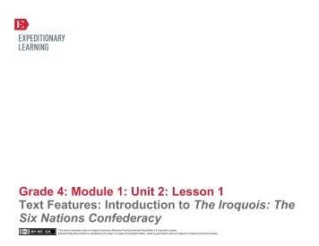 Grade 4 ELA Module 1, Unit 2, Lesson 1 - EngageNY