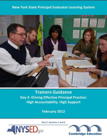 Sessions 1 and 2: Driving Effective Principal Practice ... - EngageNY