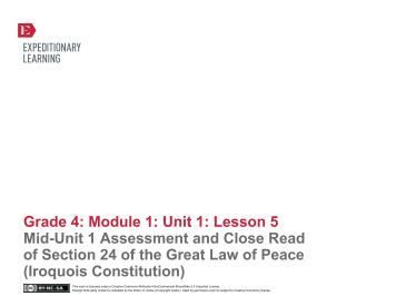 Grade 4 ELA Module 1, Unit 1, Lesson 5 - EngageNY