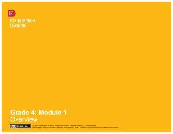 Grade 4 ELA Module 1, Unit 1 - EngageNY