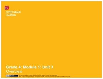 Grade 4 Module 1 Unit 3 - EngageNY