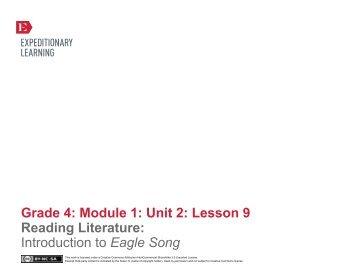 Grade 4 ELA Module 1, Unit 2, Lesson 9 - EngageNY