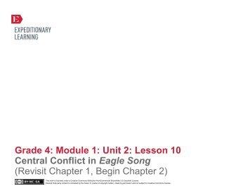 Grade 4 ELA Module 1, Unit 2, Lesson 10 - EngageNY