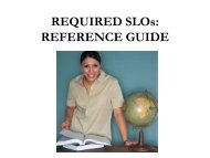 REQUIRED SLOs: REFERENCE GUIDE - EngageNY