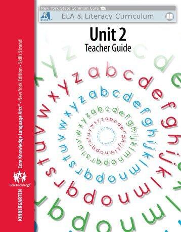 Kindergarten: Skills Unit 2 Teacher Guide - EngageNY