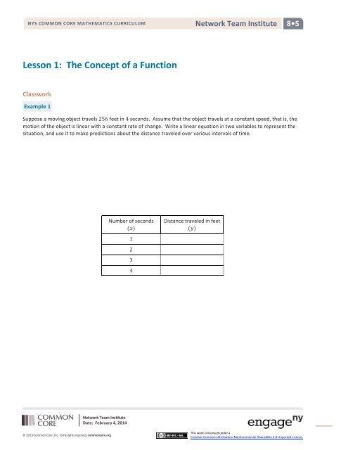 Grade 8 Module 5 Handouts - EngageNY