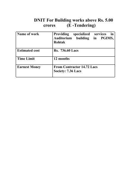 View Tender Document Haryana Pmgsy Tenders