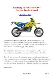 2004 Husaberg Fe-450 Fs-650 Factory Repair Manual - Carfsm