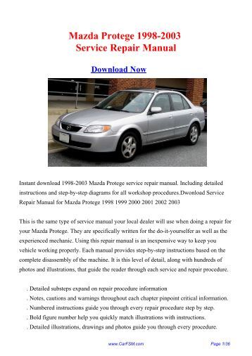 download 1994 2003 ford transit mk5 workshop repair manual 1999 Mazda Protege Mazda Protege Wagon