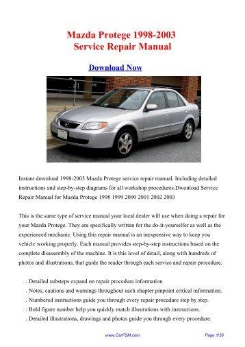 Mazda Protege Owners Manual Pdf