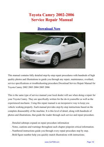 2002 toyota camry repair manual rm881u