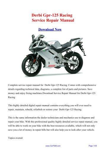 Bike kawasaki en4 derbi gpr 125 racing service repair manual fandeluxe Choice Image