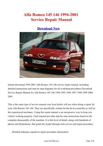 Alfa 146 Service Manual Alfa Romeo Wiring Diagram on