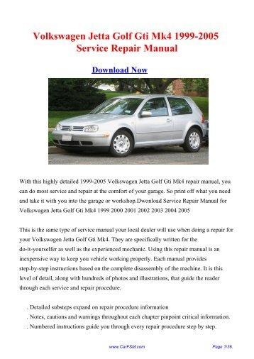 volkswagen jetta 2003 repair service manual