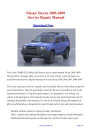 Nissan Xterra 2005-2009 Repair Manual - Carfsm