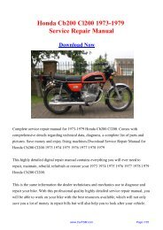 Download Honda Cb200 Cl200 1973-1979 Factory Repair ... - Carfsm