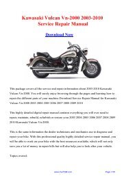 2003-2010 Kawasaki Vulcan Vn-2000 Factory Repair Manual - Carfsm