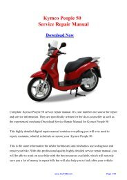 Download Kymco People 50 Service Repair Manual