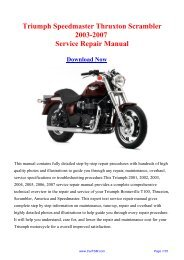 Download Triumph Speedmaster Thruxton ... - Repair manual