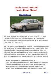 Download Honda Accord 1994-1997 Service Repair Manual - Carfsm