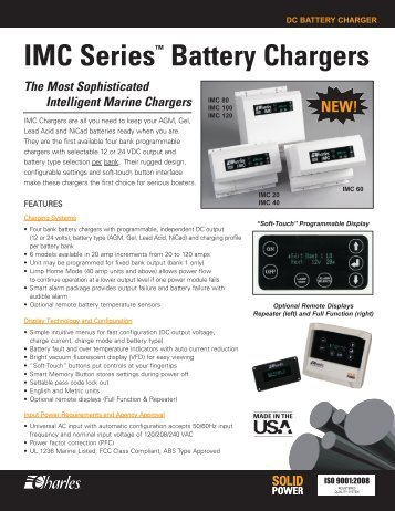 IMC Charger Data Sheet (.pdf) - Charles Industries, Ltd.
