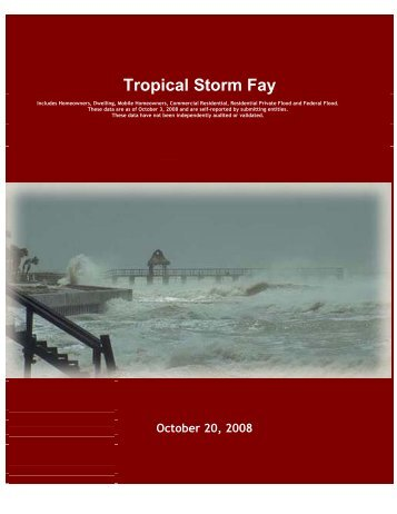 Storm Summary Data - Florida Office of Insurance Regulation