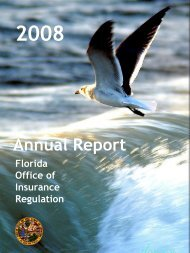 2008 Annual Report - Florida Office of Insurance Regulation