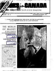 dentbook review magazine THE MERLIN OF ... - Books in Canada