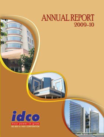 Annual Report 2009-10 - IDCO