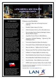 February 2013Newsletter - Latin America New Zealand Business ...