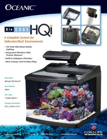 A Complete System for Saltwater/Reef ... - Oceanic Systems