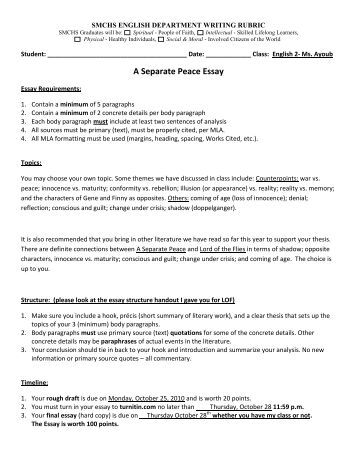 for peace essay for peace