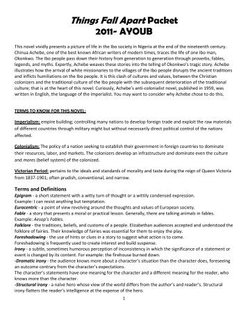 analysis and evaluation of things fall apart essay Things fall apart analysis essaysin things fall apart, by chinua achebe the protagonist okonkwo, represents the classical tragic hero the main character of things fall apart is okonkwo he can change his character depending on the situation he is in okonkwo is known for having a bad.